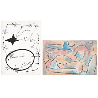 """PAUL KLEE, Sommeil d' hiver, from the series The Four Season, 1938, Signed, Lithography on plate without print number, 9 x 13.3"""" (23 x 34 cm)"""