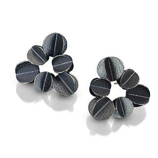 Urban Blossom Triangle Earrings