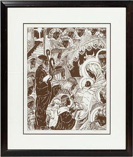 ALLAN CRITE, SIGNED LITHOGRAPH, 136/150