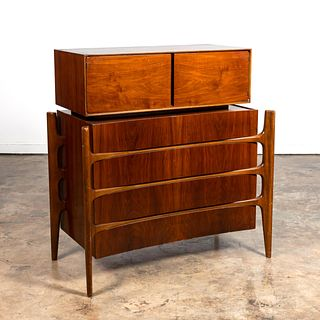 WILLIAM HINN MCM WALNUT GENTLEMENS CHEST