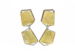 Bouncing Links Earrings Large