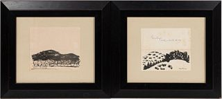 MILTON AVERY SIGNED GREETING CARDS