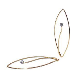 Iris Earrings in 18K rose gold with Diamonds