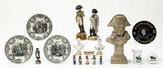 18 PIECES, GROUP OF NAPOLEON FIGURES AND IMAGERY