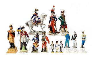 13 NAPOLEONIC WAR PORCELAIN FIGURINES