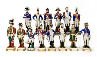 14 NAPOLEONIC WAR PORCELIAN SOLDIER FIGURINES