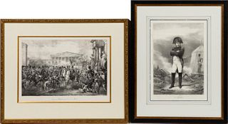 TWO 19TH CENTURY, NAPOLEON MILITARY ENGRAVINGS