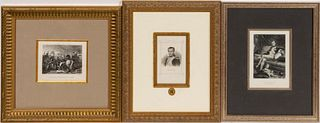 IMAGES OF NAPOLEON, COLLECTION OF 3, FRAMED