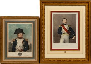 TWO PORTRAIT PRINTS OF NAPOLEON, 19TH CENTURY