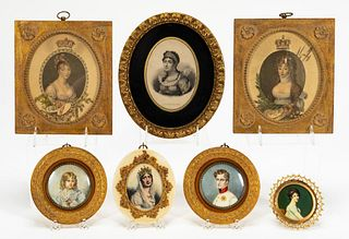 COLLECTION OF MINIATURE PORTRAITS, NAPOLEONIC