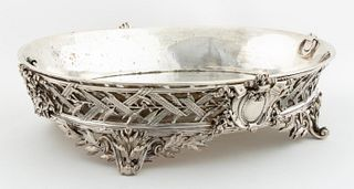 CHRISTOFLE, FRENCH ORNATE SILVERPLATE CENTERPIECE
