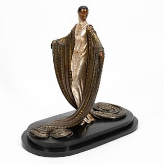 ERTE BRONZE SCULPTURE, LA MYSTERIEUSE, 1980