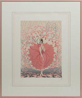 ERTE, PINK LADY SERIGRAPH, 246/300, SIGNED