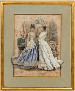 VICTORIAN LA MODE ILLUSTREE HAND EMBELLISHED PRINT