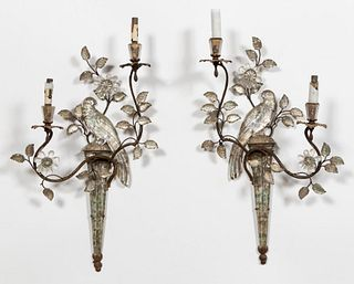 PR. MAISON BAGUES PARROT WALL SCONCES