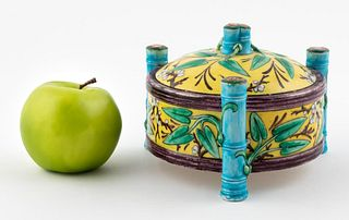 THEODORE DECK FAIENCE JAPANESQUE LIDDED JAR