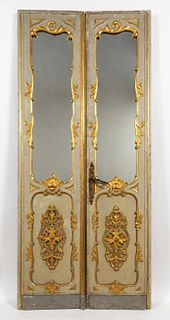 PR. 20TH C. LOUIS XV PALATIAL GILT ACCENTED DOORS