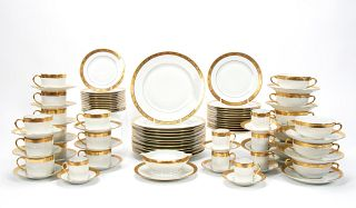 "89 PC RAYNAUD LIMOGES ""AMBASSADOR GOLD"" CHINA SET"