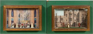 TWO ENGLISH ROYAL SCENE SHADOWBOXES, R. COURTENAY
