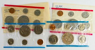 (2) SETS OF U.S. 1977 PROOF COINS