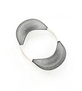 Loop Bangle Black and White