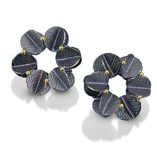 Round medium Urban Blossom Earrings