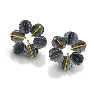 Round small Urban Blossom Earrings