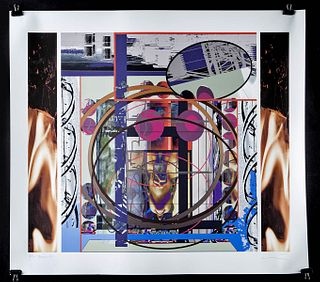 "Steve McCallum Digital Color Print - ""Below Up"" 2002"
