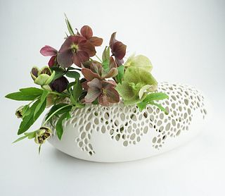 Long Oval Bubble Vase