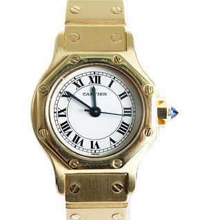 Cartier Santos Octagon 18K YG Women's Watch