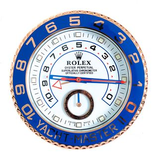 Rolex Yacht-Master Dealer Advertising Wall Clock