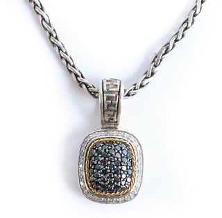Designer EFFY 18K YG 1.00CTTW Diamond Necklace