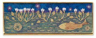 panel w/ lilies and fish