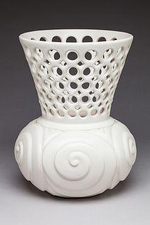 Pierced and carved Spiral Motif Vase
