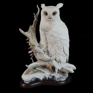 "Cybis ""Perched Owl"" Porcelain Figurine"