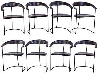 Italian Arrben 'Ursula' Leather Chairs