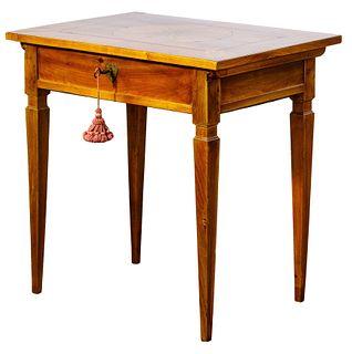 Georgian Mahogany Sliding Top Table
