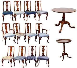 Queen Anne Style Mahogany Dining Chair Assortment