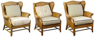 Baker Furniture 'Milling Road' Rattan Chairs