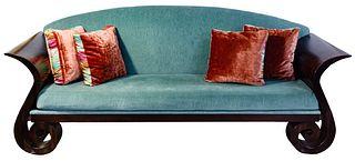 Sleigh Style Sofa