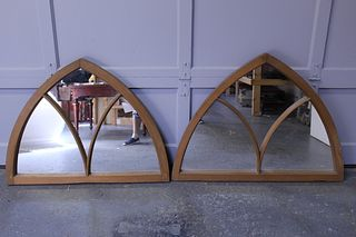 Pair of 19th Century Sash Gothic Mirrors