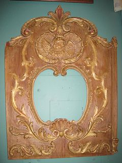 C. 1890 Carousel Panel with Mirror and Cherub