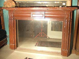 Large Pine Fireplace Mantle