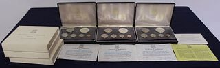 Three 1973 Proof Sets of First Coinage of British