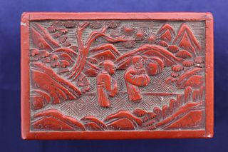 19th C. Cinnabar Lacquer Box