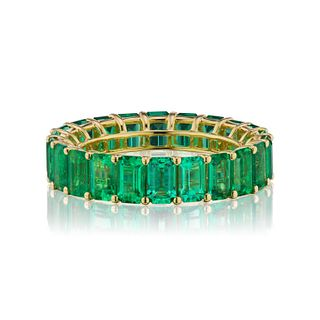 OCTAGON EMERALD BAND
