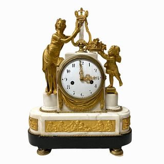 Antique French Desk Clock