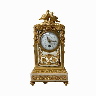 Rare French Bronze Mounted Clock