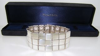 Tiffany & Co Sterling Silver Wide Band Three Row