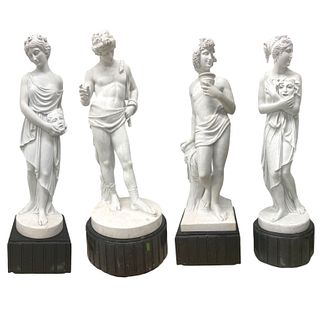 (4) Four 20th Century Life Size Marble Sculptures